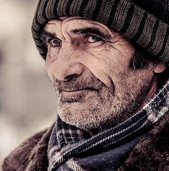 Alter Mann Schaut Zu Und Wird Geil